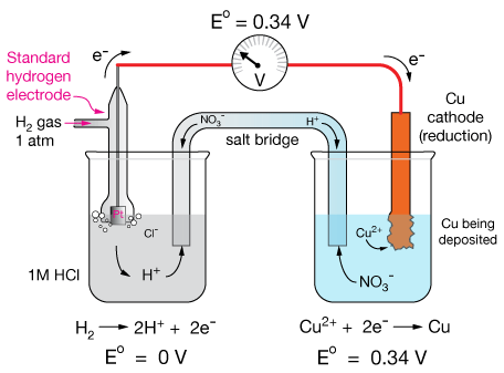 electrochemistry electrode potential The standard reduction potential is the tendency for a chemical species to be  reduced, and is measured in volts at standard conditions.