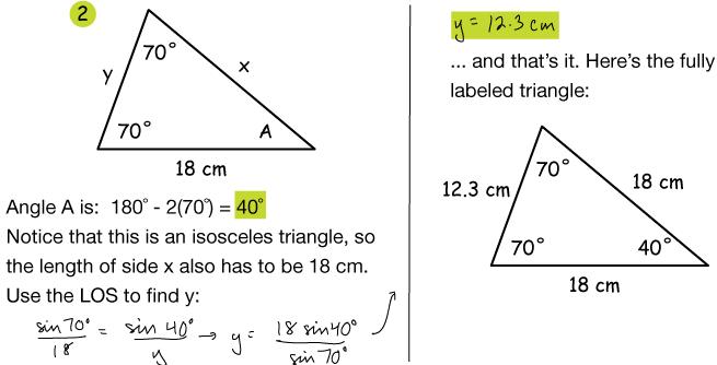 Non-right triangle trig